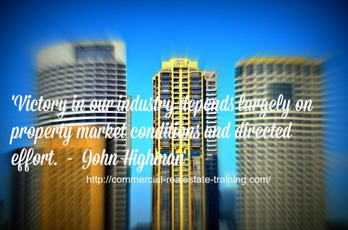 victory quote over city buildings