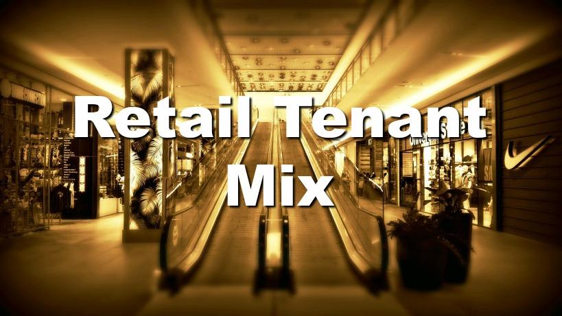 escalators in retail shopping center