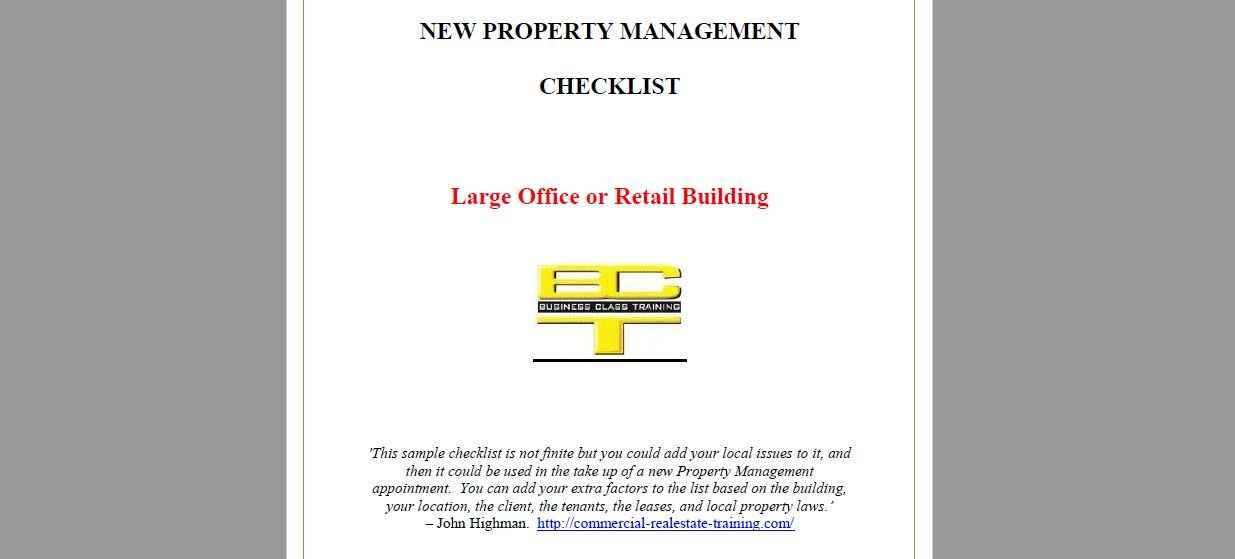 property management handover checklist