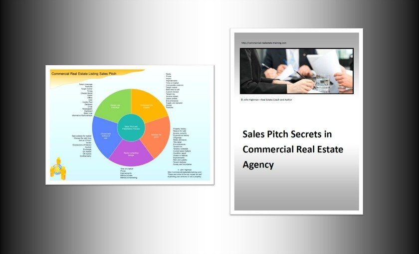 sales pitch chart and book for commercial real estate brokers